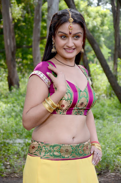 Tollywood South Girl Sonia Agarwal in Blouse and Lehenga