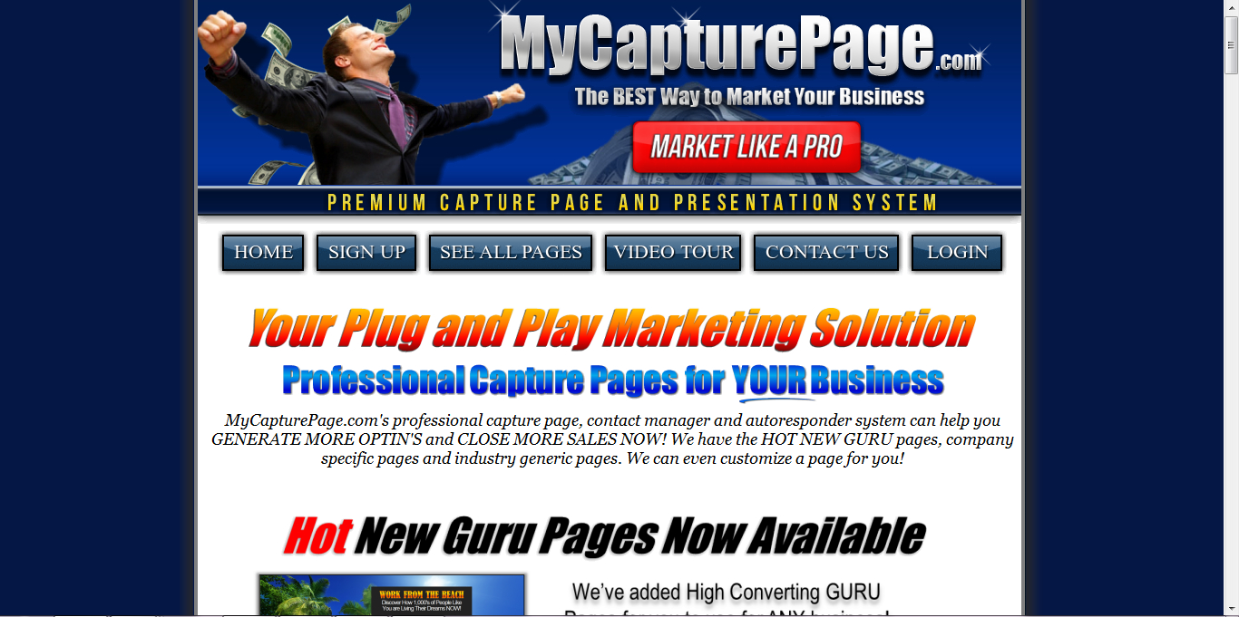 how to create lead capture page for free