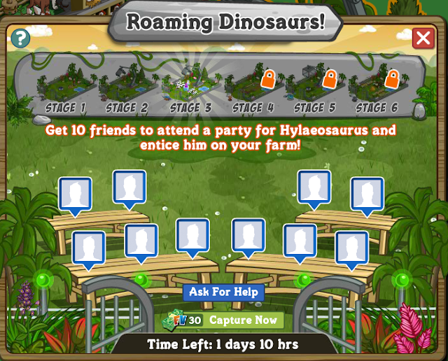 FarmVille Roaming Dinosaur Stage 3 Enticing a Hylaeosaurus Requirement