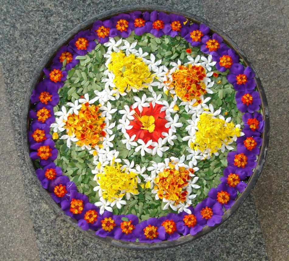 Pics obsession flower rangoli designs for Home made rangoli designs