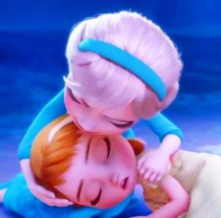 Foto Anna dan Elsa Frozen Waktu Masih Kecil