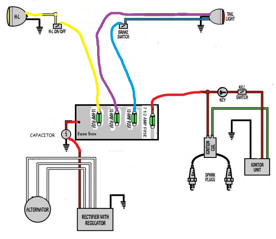 xswirenew xs650 pma swap and kill switch xs650 pamco wiring diagram at webbmarketing.co