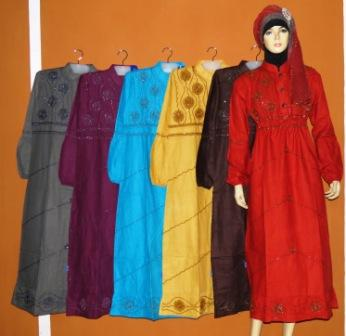 Gamis katun tanah abang gk2235 grosir baju muslim murah Baju gamis couple tanah abang