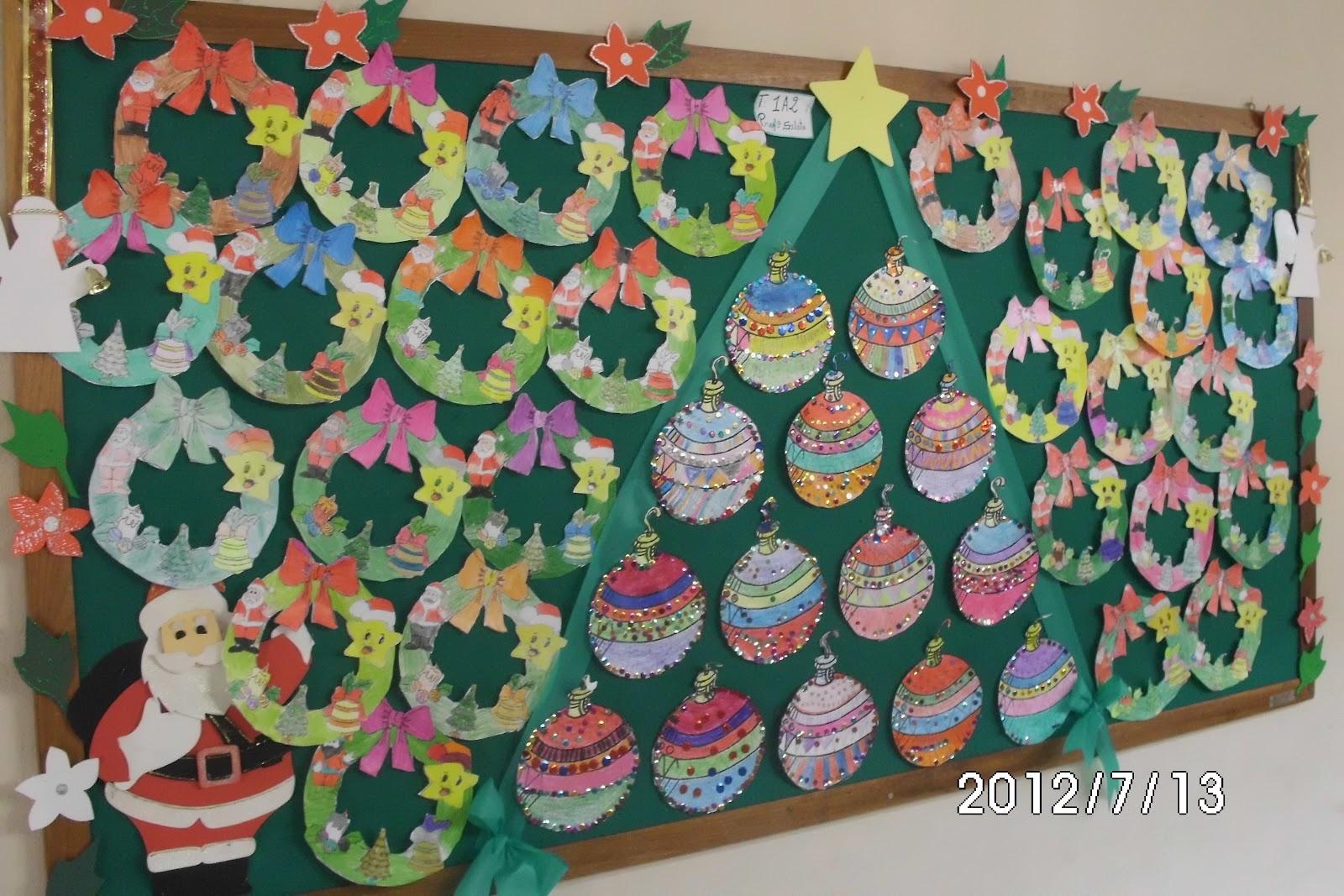 pibid escola gusm o britto mural e trabalhos de natal