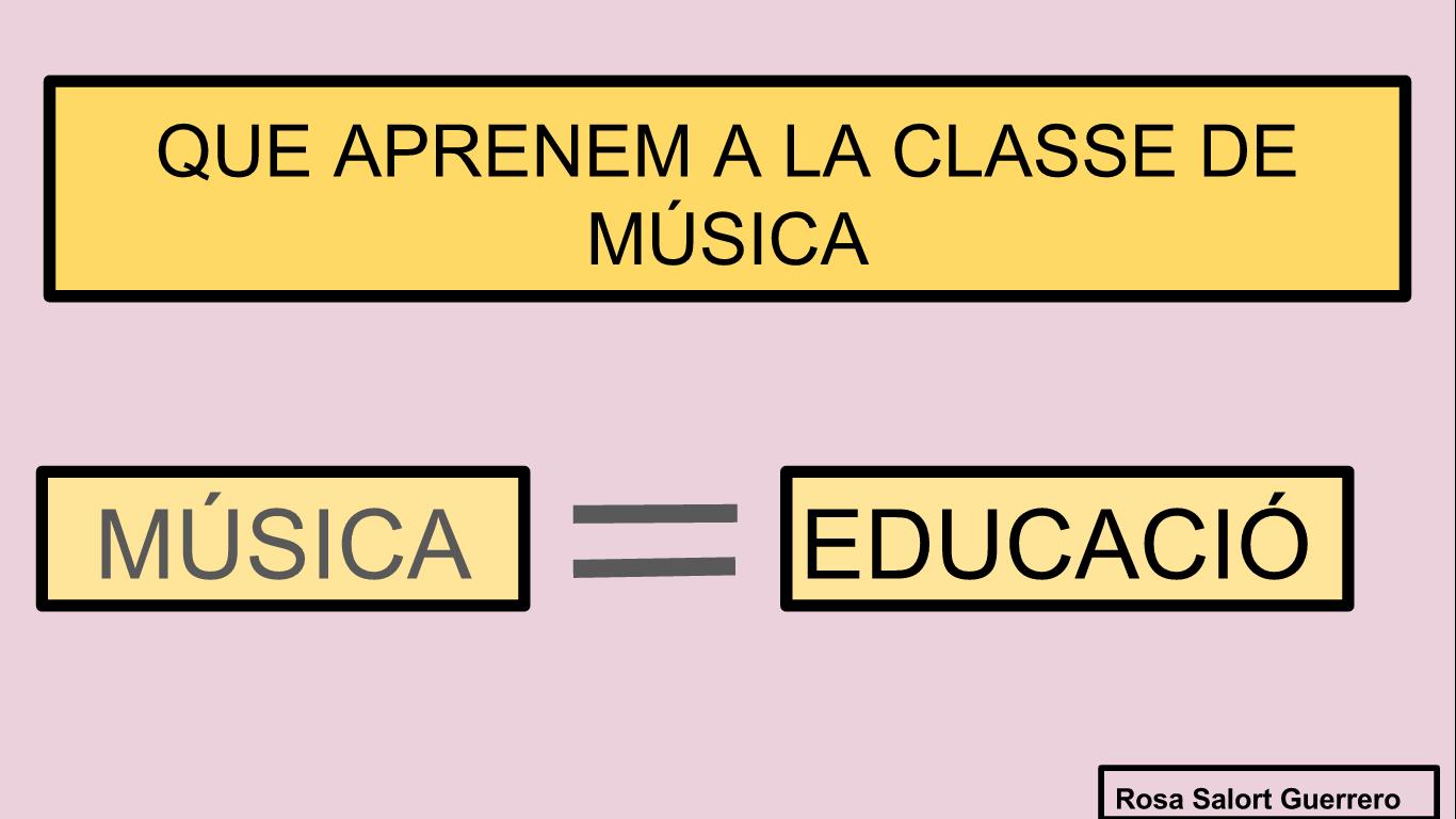 QUE APRENEM A LA CLASSE DE MÚSICA