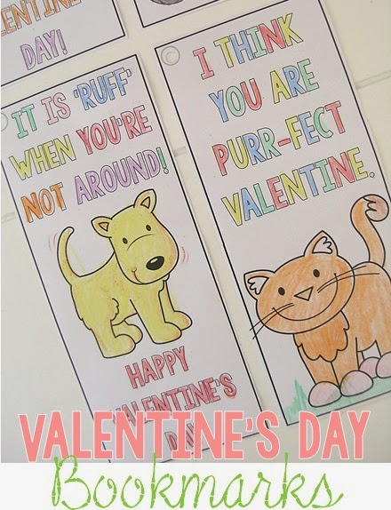 FREE Valentine's day Bookmarks for kids