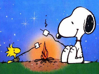 Snoopy and Woodstock camping www.thebrighterwriter.blogspot.com
