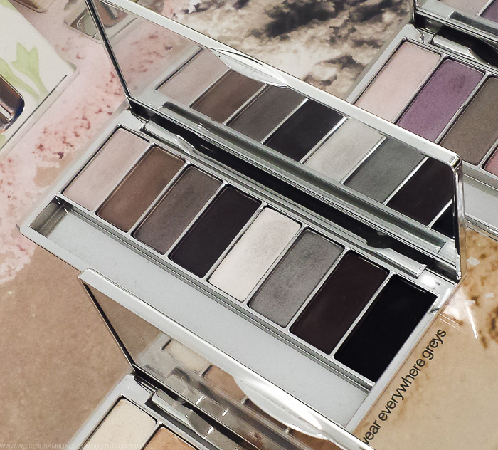Clinique All About Shadow 8-Pan Neutral Eyeshadow Palettes- Wear Everywhere Greys - Swatches