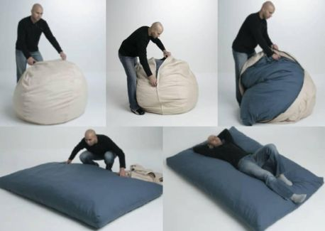 Interesting Strange And Great Inventions 15 Pics besides Creative Beanbags Cool Bean Bag Chairs likewise Fantasticas Ideas Para Decorar Tu Casa Si Te Sobra Una Vieja Camio a additionally Modern Chair And A Half With Ottoman further Baxton Studios Romano Convertible Sofa. on sleeper chairs for adults