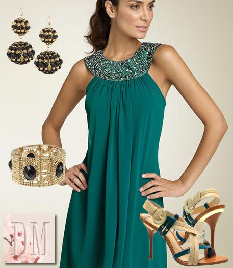 Uma Vida Perfeita A beleza e a elegu00e2ncia de um vestido verde