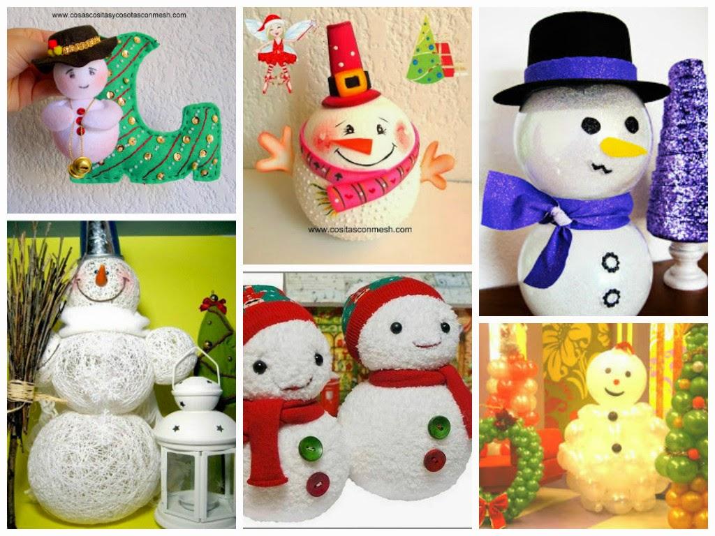 Manualidades navide as con mu ecos de nieve cositasconmesh - Manualidades munecos de navidad ...