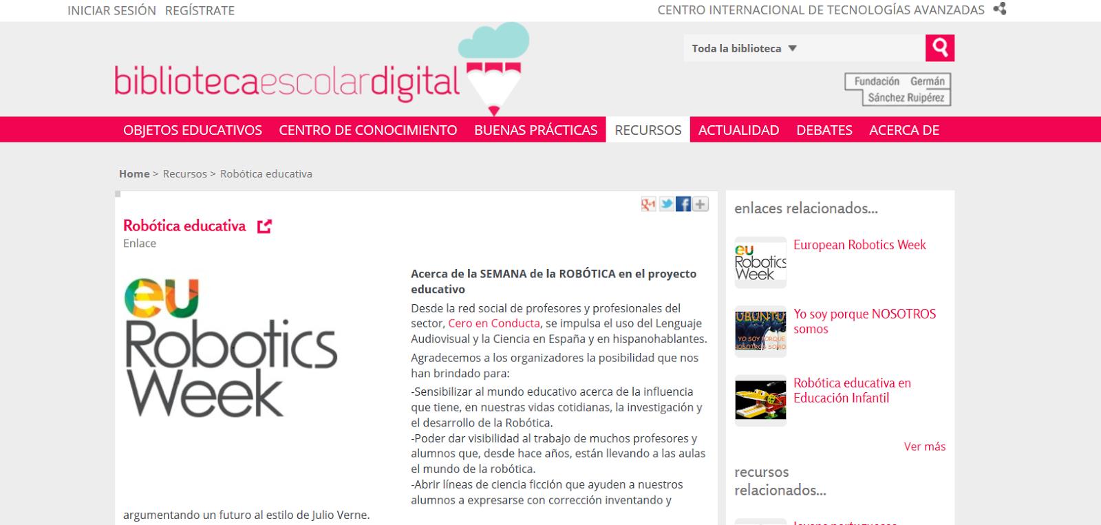 http://bibliotecaescolardigital.es/comunidad/BibliotecaEscolarDigital/recurso/robotica-educativa/cff9eda0-2684-4700-a1ce-02dfec3a2342
