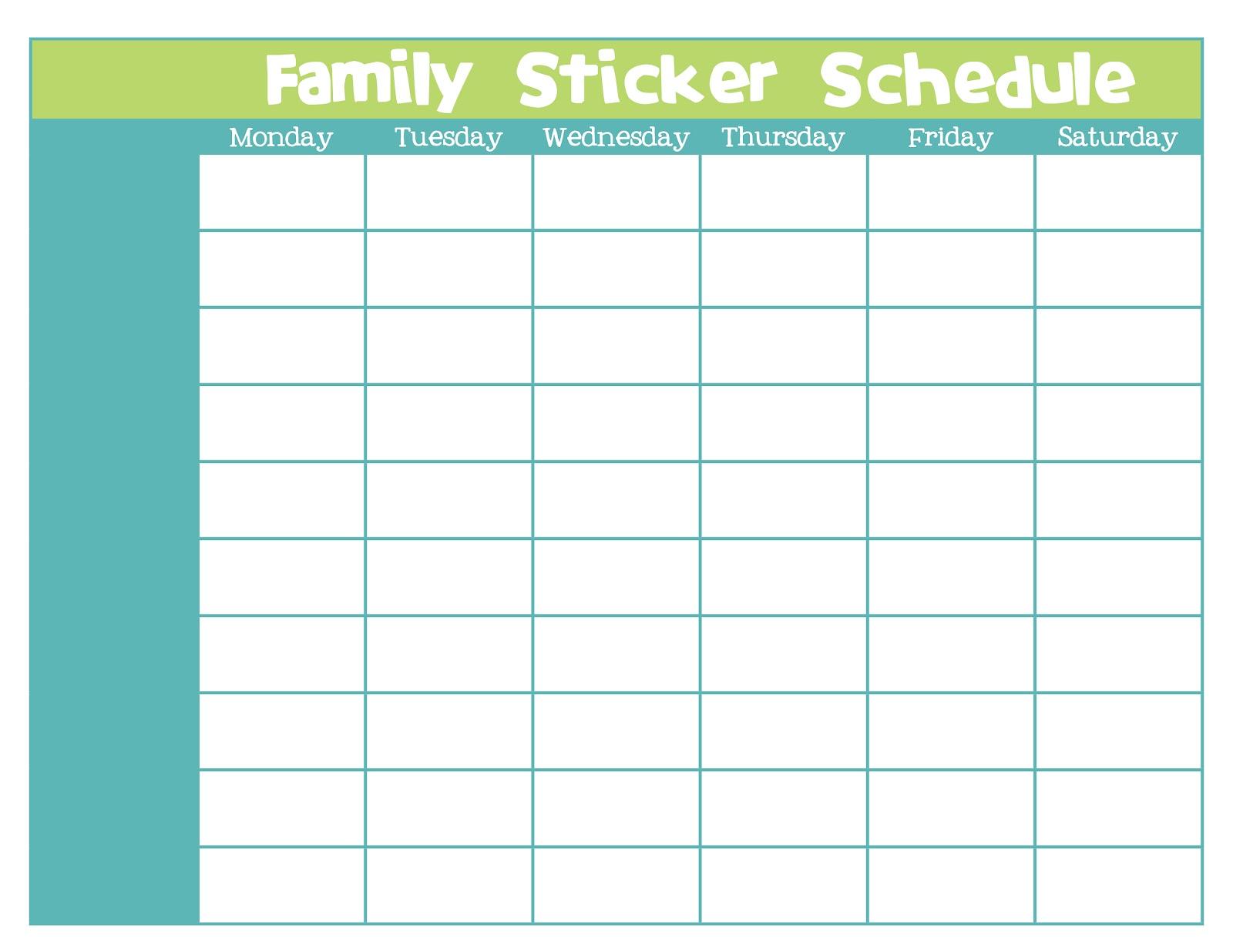 sticker chart – Blank Sticker Chart