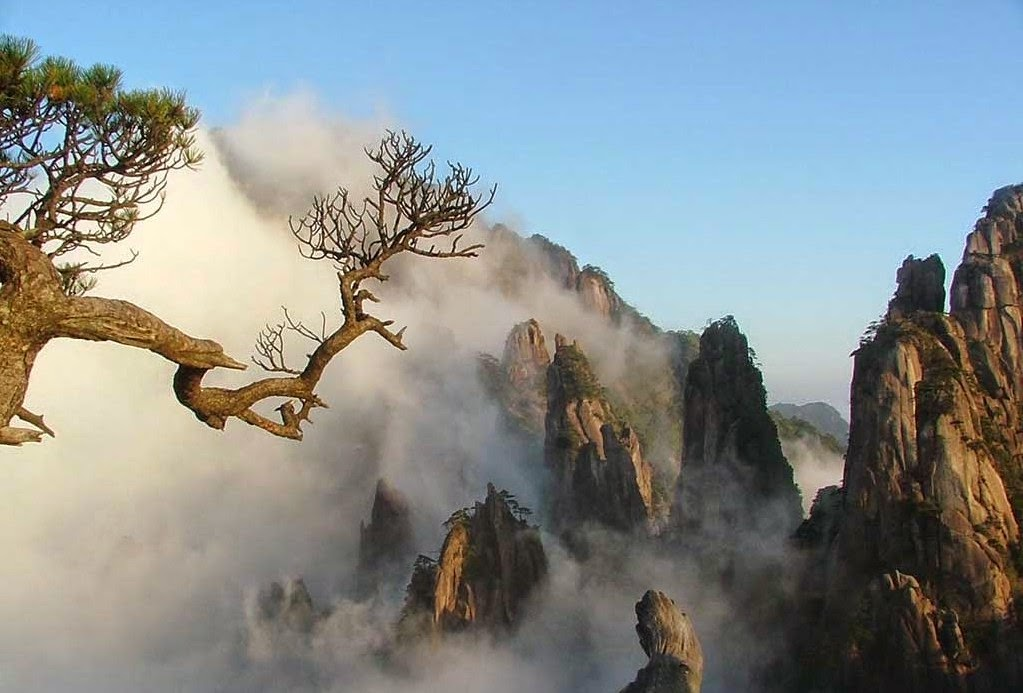 A Beautiful View of Huangshan, China