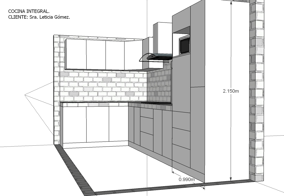 Closets y cocinas integrales residencial cocina integral for Medidas estandar de cajones de cocina
