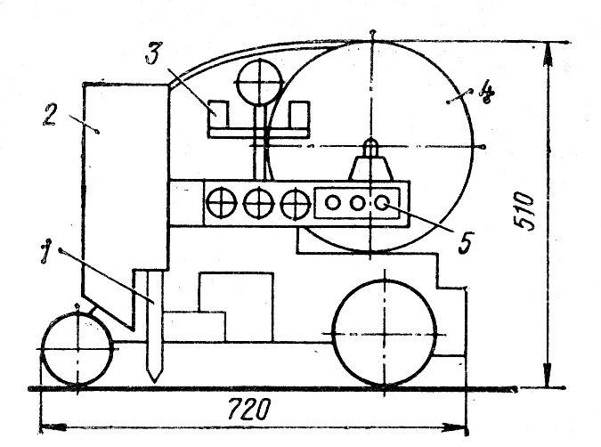 Эскиз сварочного трактора ТС-17М