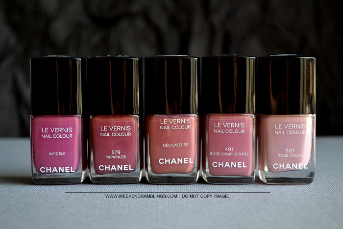 Chanel Nail Polish Neutrals Comparisons Paparazzi 579 Infidele Delicatesse Confidentiel Rose Cache Indian Beauty Makeup Blog