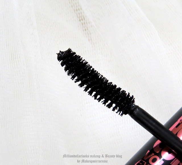 Maybelline The Hyper Curl Volum' Express Mascara Review & EOTD,  MillionDollarLooks Makeup & Beauty Blog, Drugstore mascara review, best curling mascara, best affordable mascara available in India, best nbudget mascara, indian beauty blog, indian makeup blogger, indian makeup and beauty blog, long lashes, Indian eyes