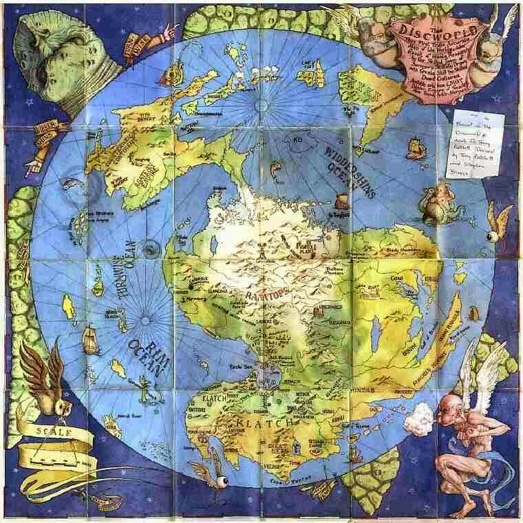 Disc World Map.All Things Kevyn Heavenly Body Of The Week Discworld