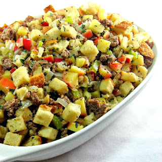 Dressed for the Holidays - Sourdough Bread Stuffing with Mushrooms ...