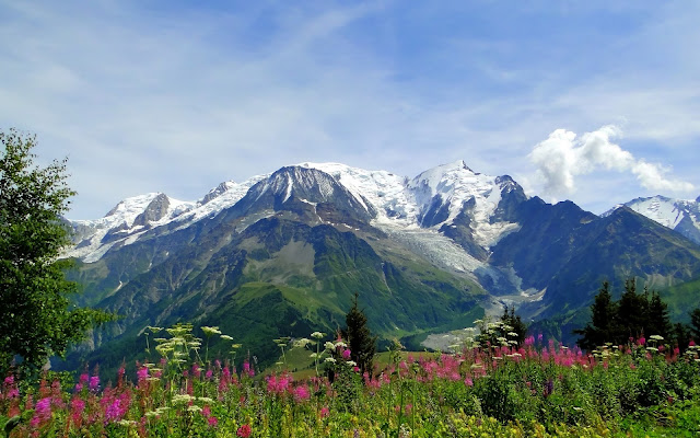 Imagenes de Montañas Mont Blanc (Monte Blanco) Los Alpes de Europa