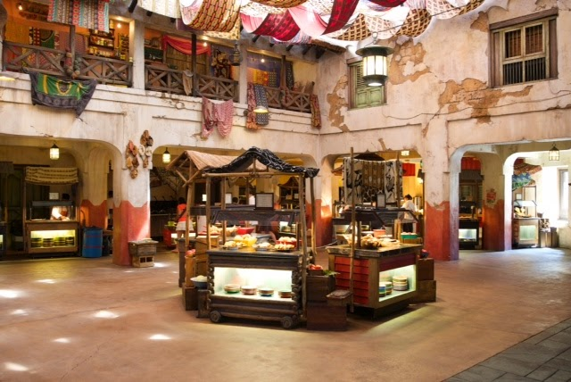 Buffet at Tusker House Restaurant in Animal Kingdom Disney World