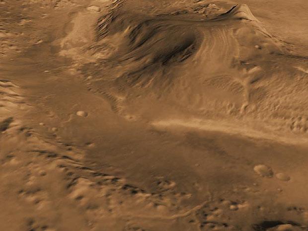 Cratera Gales em Marte onde o Curiosity Pousará