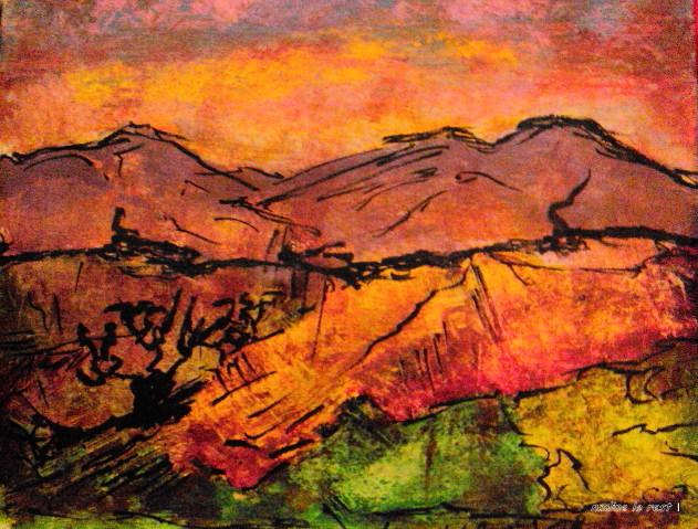 Les couleurs du soir peinture de carnet de voyage int rieur for Le voyage interieur