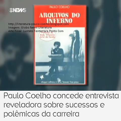 Capa do Livro Arquivos do Inferno, de Paulo Coelho, Programa Globo News Literatura