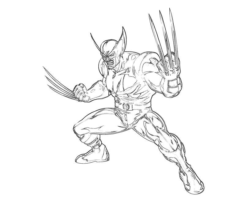 #18 Wolverine Coloring Page