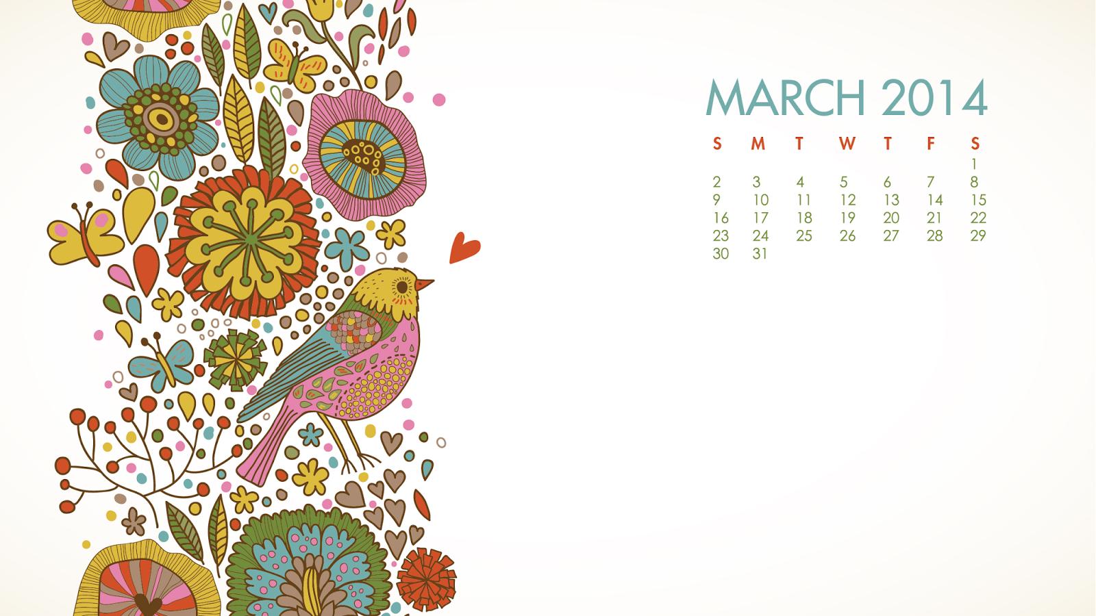 FREE MARCH 2014 DESKTOP CALENDARS
