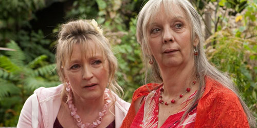 Ruth Sheen and Lesley Manville in Mike Leigh's Another Year