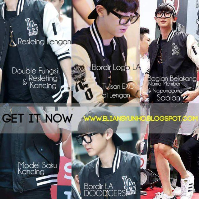 EXO LA DOODGERS BLACK JACKET