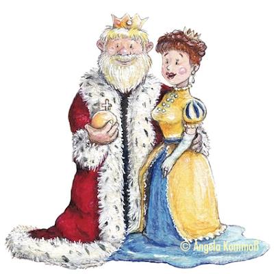 Kinderbuchillustration, children's book illustration, royal couple, König, Königin