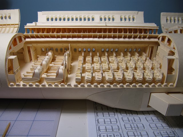 This Meticulously Crafted 777-replica Is Made Of Manila Folders