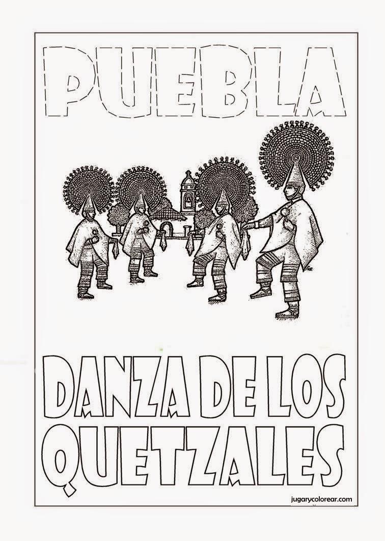 Colorear Danza de los Quetzales