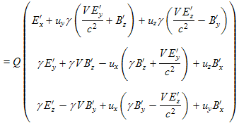 simplified Lorentz force