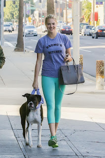 Kate Upton – Walks her dog at Beverly Hills