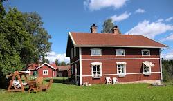 Vårt nya hus på sommaren