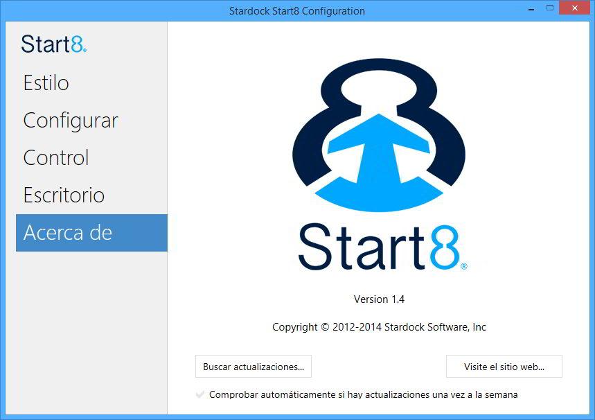 Stardock Start8 Versión 1.41 Español