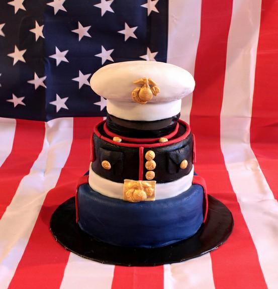 Let Them Eat Cake At Your Wedding Military Wedding Cake