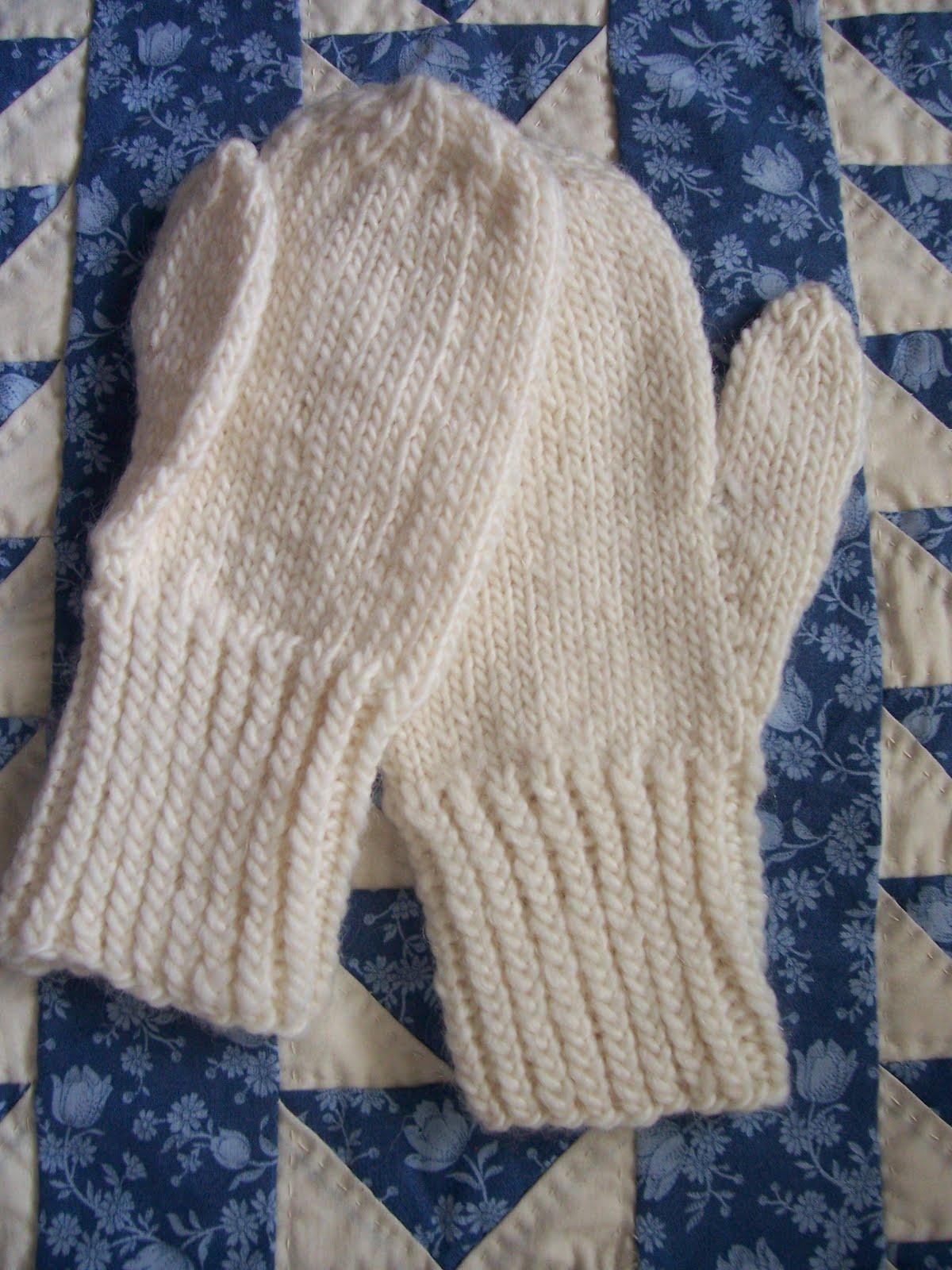 Plain Gloves Knitting Pattern : Knitting Only Mittens