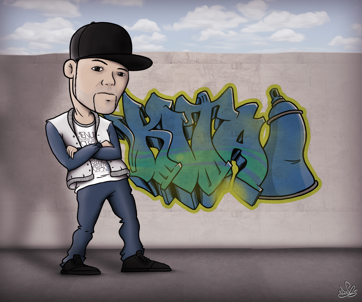 caricatura graffiti