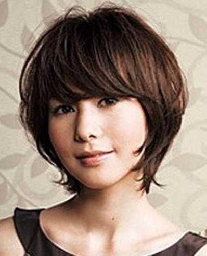 gaya rambut wanita berwajah bulat cantik