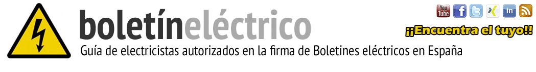 Boletín Eléctrico - Electricistas autorizados para la firma de boletines eléctricos