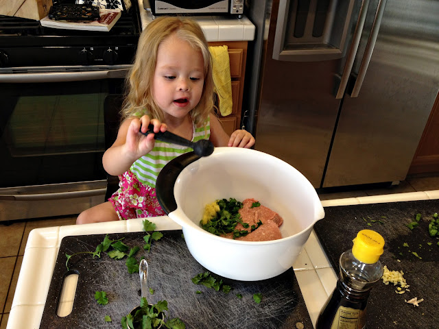 Cooking with Kiddos-Asian Turkey Meatballs | A delicious, healthy recipe to cook with kiddos. www.MotherhoodintheTrenches.com