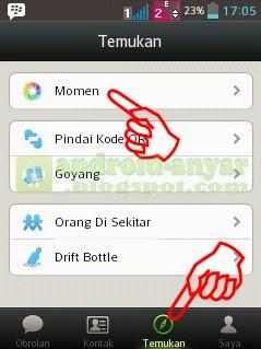 Cara Menulis Moment WeChat hanya teks tanpa foto
