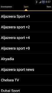 Aljazeera sport + Et Arryadia Sur Android Avec Sybla Tv :