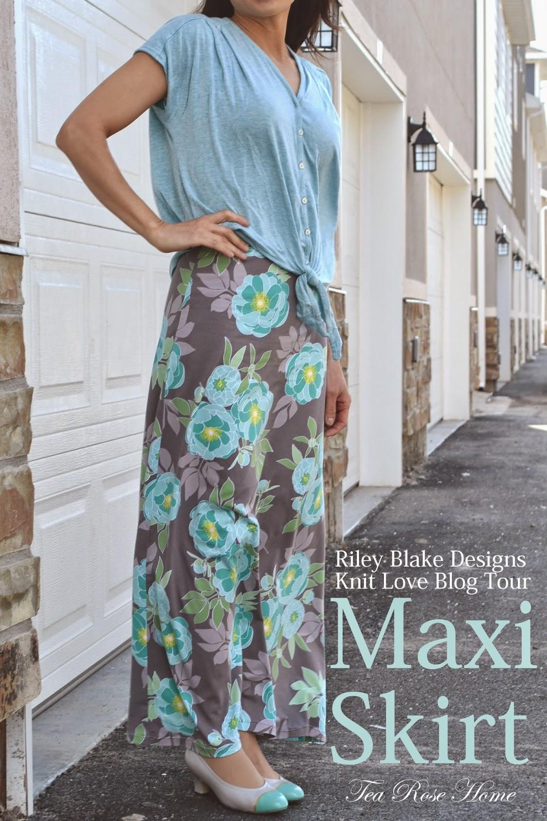 Tea Rose Home Riley Blake Designs Knit Love Blog Tour Skirt Giveaway