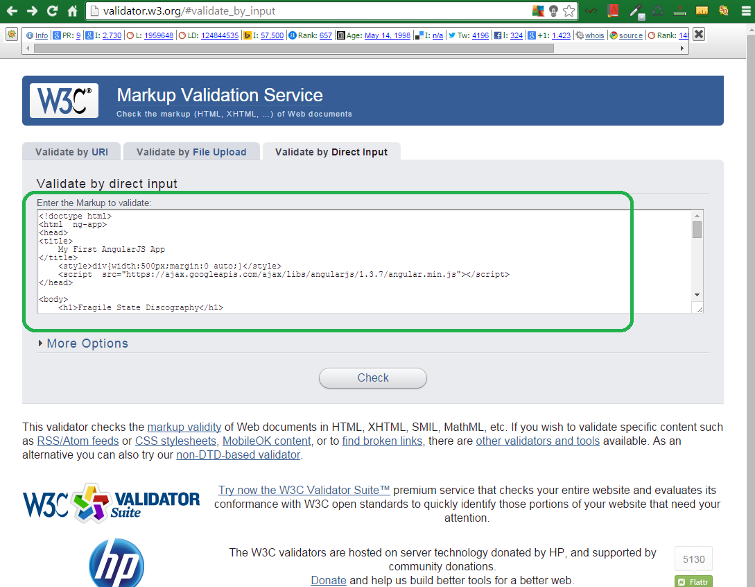 W3C Free Tool for HTML5 Markup Validation 4